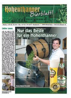 Hohenthanner Bierblattl 2012