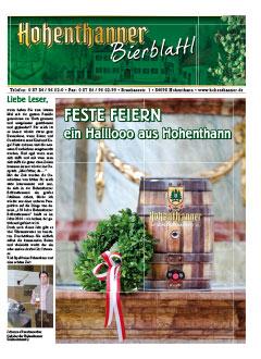 Hohenthanner Bierblattl 2013