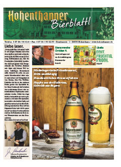 Hohenthanner Bierblattl 2015 / 02