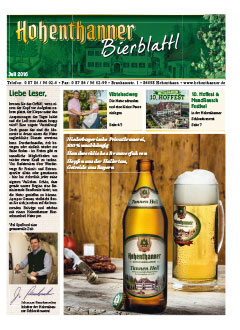 Hohenthanner Bierblattl 2019
