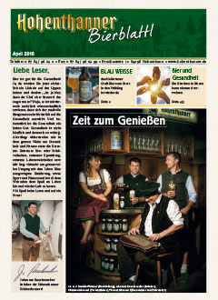 Hohenthanner Bierblattl 2018 / 01