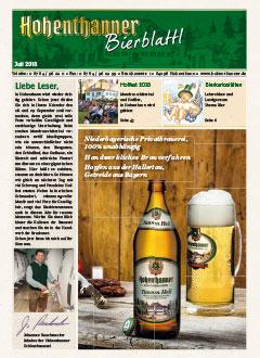 Hohenthanner Bierblattl 2018 / 02
