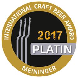 Meininger Platin 2017 für Kellerbier Dunkel