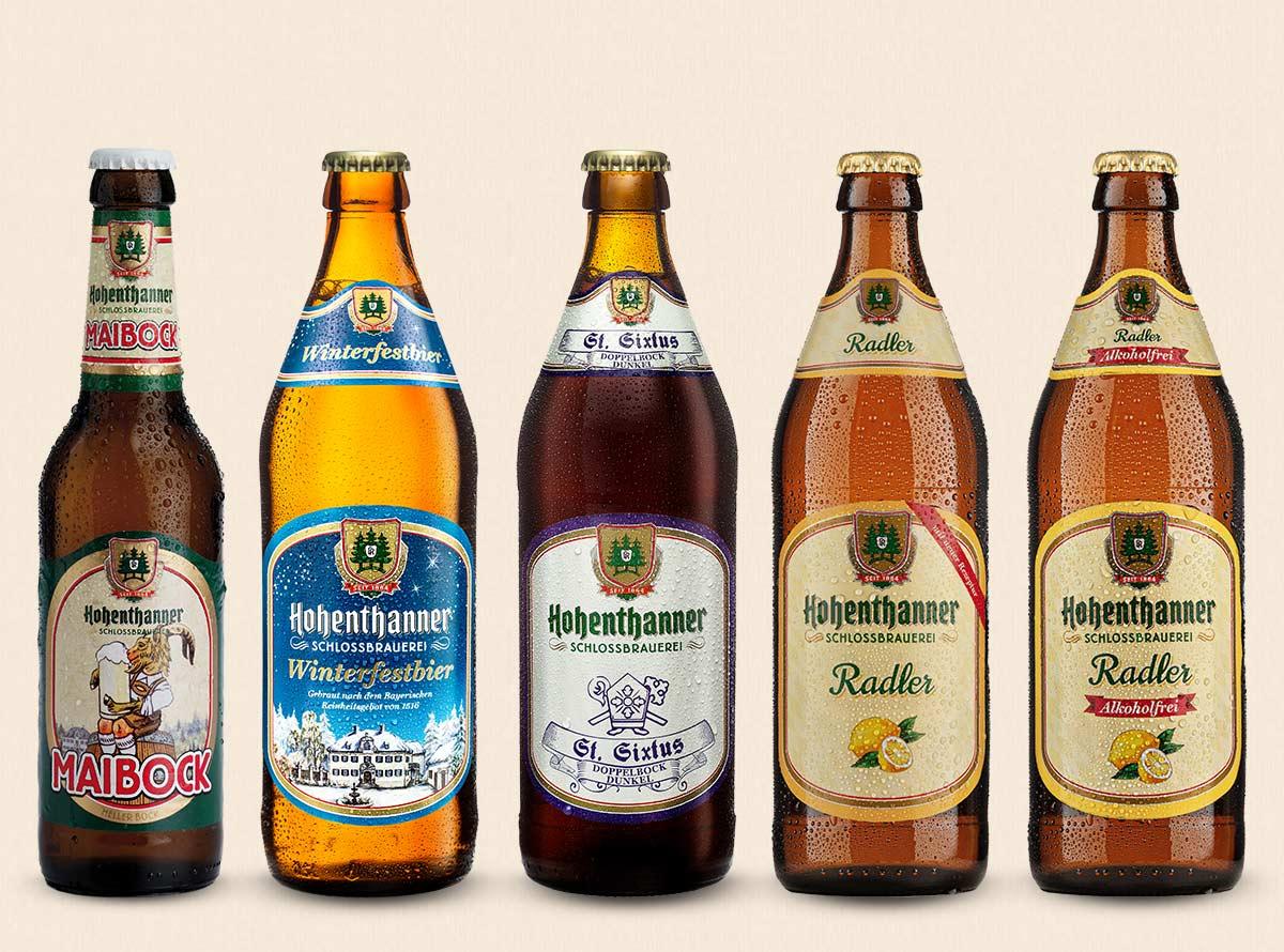 Hohenthanner saisonelle Biere und Radler